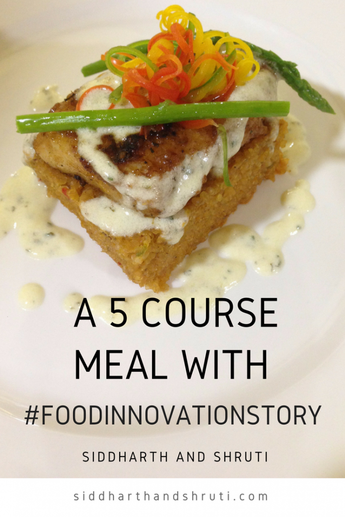 A 5 course meal with Food Innovation Story
