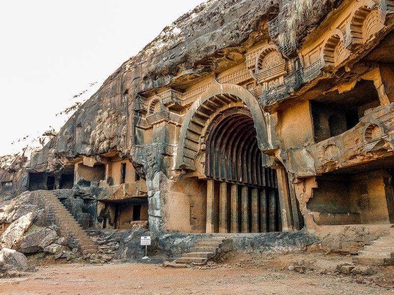 The ancient rock-cut caves at Karla and Bhaja near Lonavala