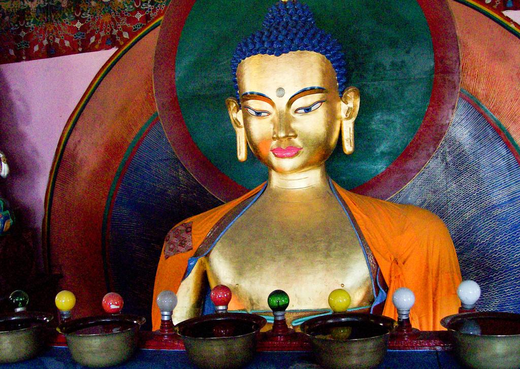 Gadhan Thekchhokling Monastery - Buddha Statue